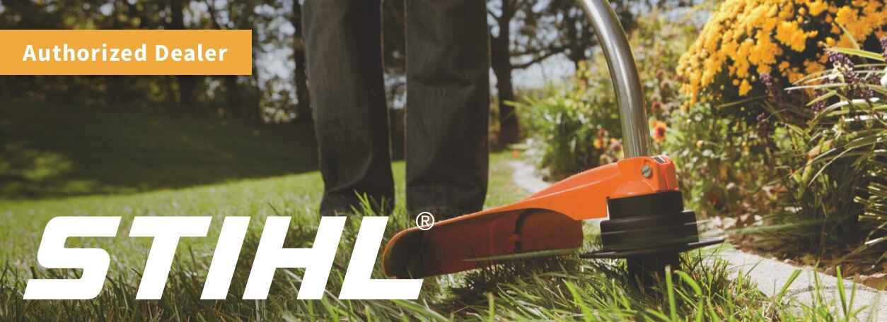 Stihl leaf blower with logo - Authorized Dealer