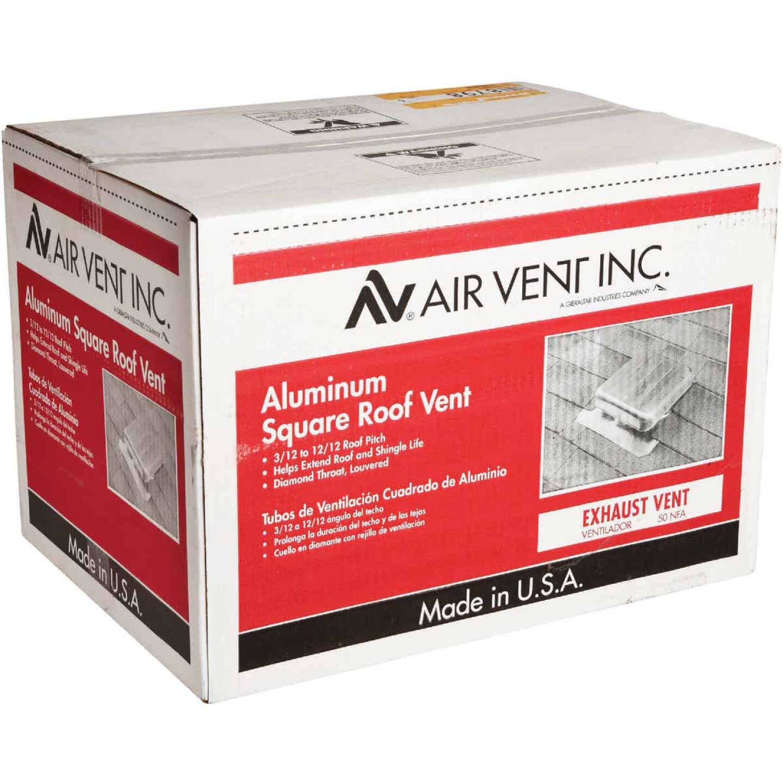 Airhawk 50 In. Mill Aluminum Square Roof Vent Image 3