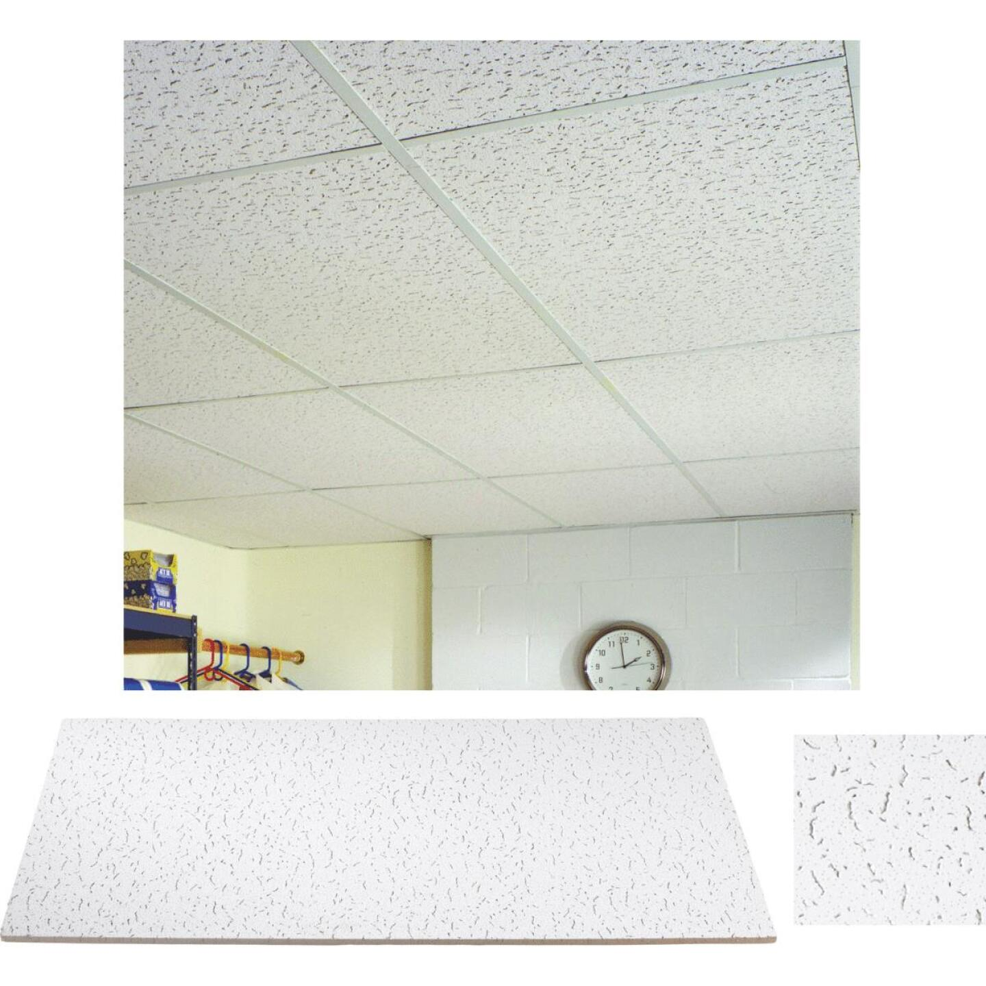 Fifth Avenue 2 Ft. x 4 Ft. White Mineral Fiber Square Edge Ceiling Tile (8-Count) Image 1
