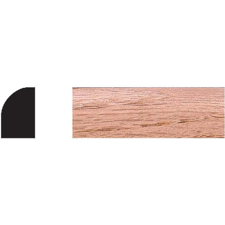 House of Fara 3/4 In. W. x 1/2 In. H. x 8 Ft. L. Solid Red Oak Base Shoe Image 1