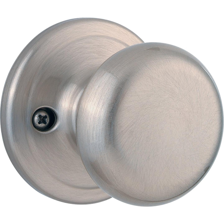 Kwikset Signature Series Satin Nickel Juno Dummy Door Knob Image 1