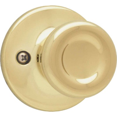 Kwikset Polished Brass Tylo Dummy Door Knob
