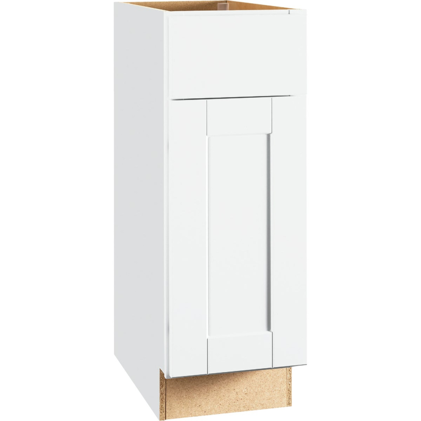 Continental Cabinets Andover Shaker 12 In. W x 34 In. H x 24 In. D White Thermofoil Base Kitchen Cabinet Image 1
