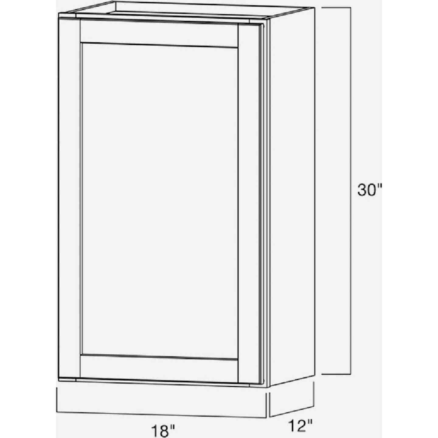 Continental Cabinets Andover Shaker 18 In. W x 30 In. H x 12 In. D White Thermofoil Wall Kitchen Cabinet Image 5