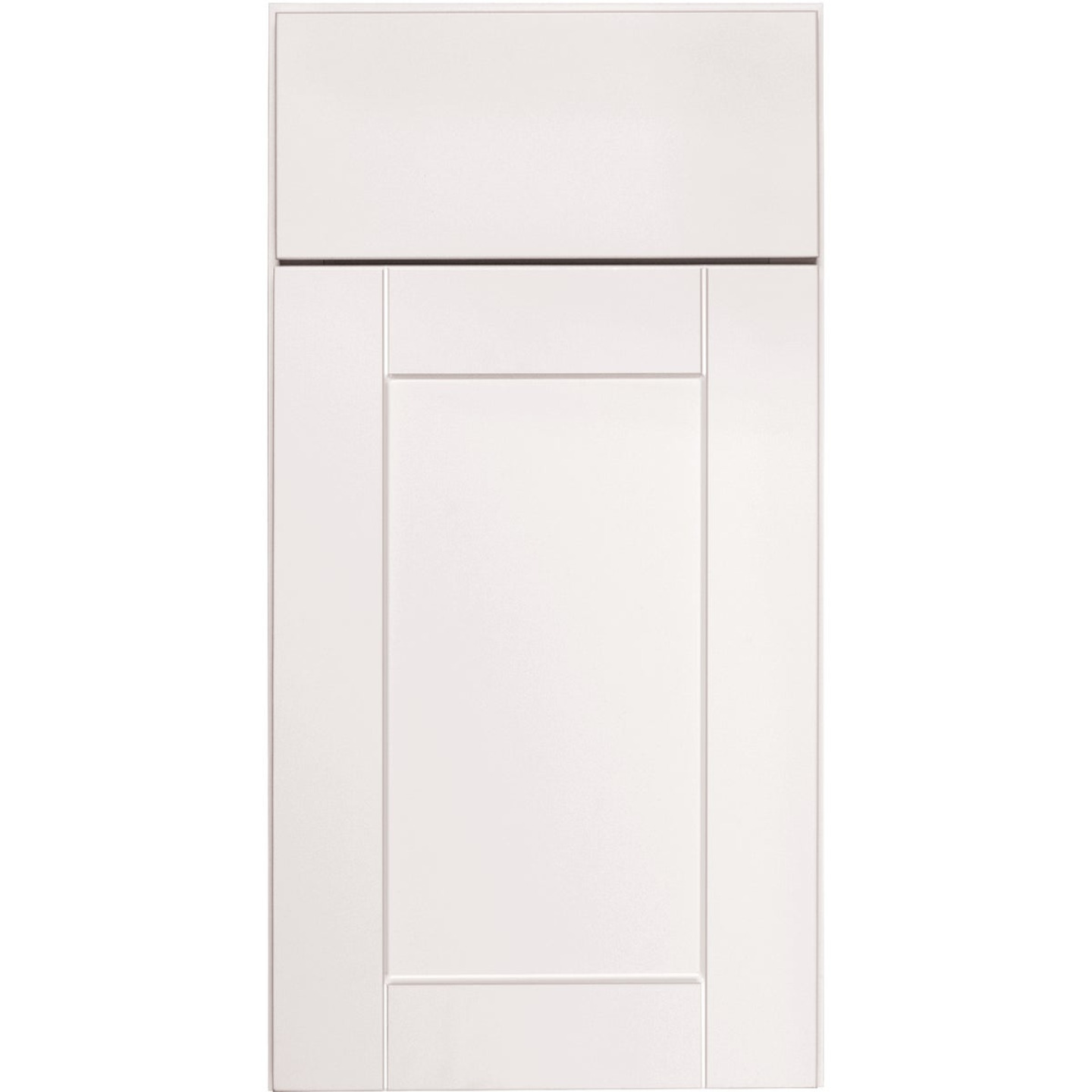 Continental Cabinets Andover Shaker 18 In. W x 30 In. H x 12 In. D White Thermofoil Wall Kitchen Cabinet Image 3