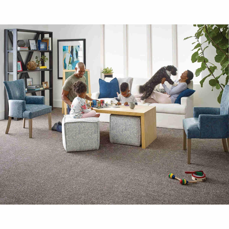 Floorigami 9 In. x 36 In. Chiaroscuro Tri-Tone Indoor Carpet Tile (12-Pack) Image 4