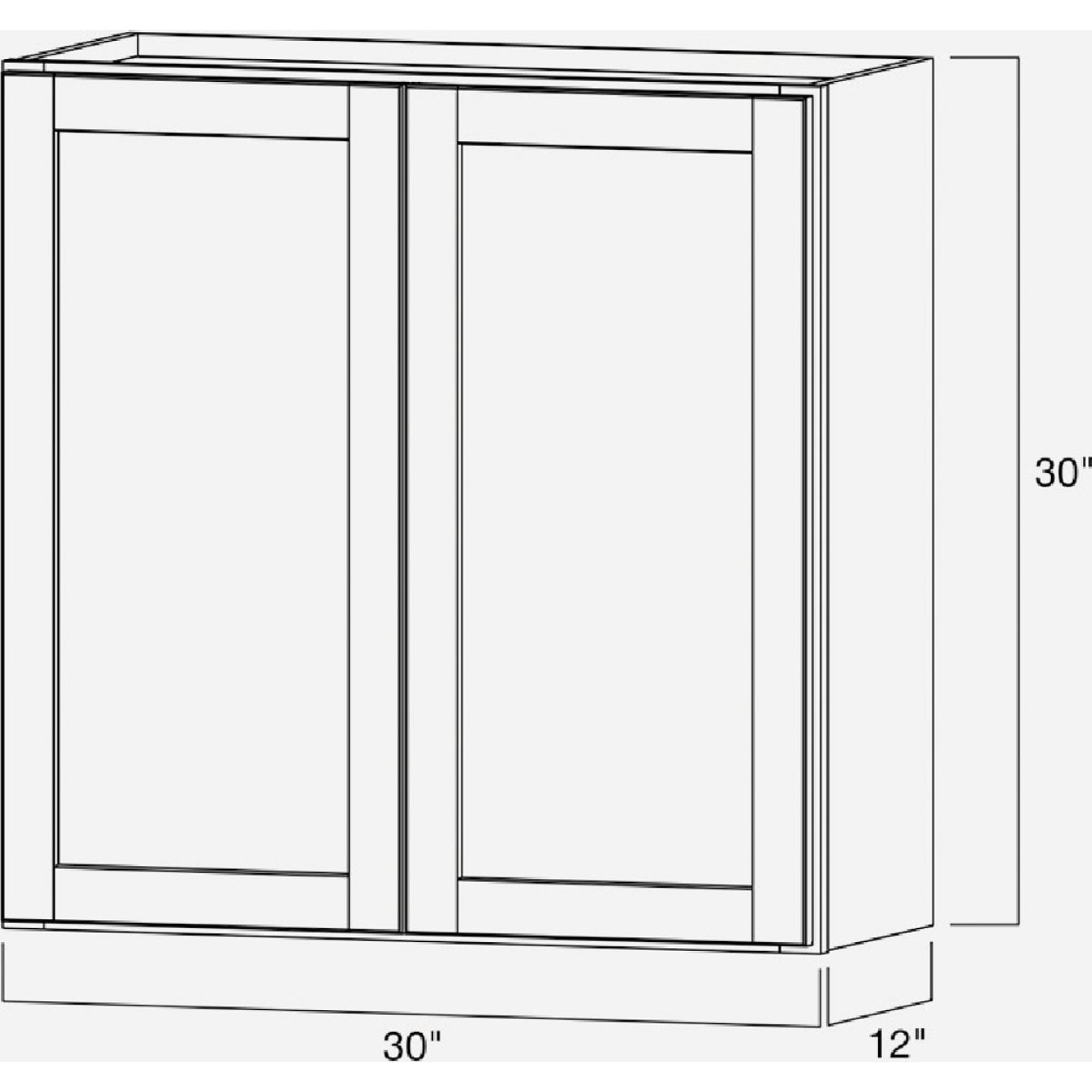 Continental Cabinets Andover Shaker 30 In. W x 30 In. H x 12 In. D White Thermofoil Wall Kitchen Cabinet Image 6