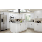 Continental Cabinets Andover Shaker 30 In. W x 30 In. H x 12 In. D White Thermofoil Wall Kitchen Cabinet Image 2