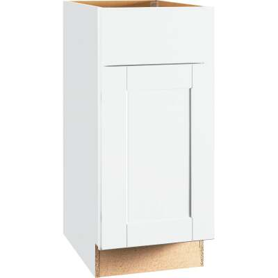 Continental Cabinets Andover Shaker 15 In. W x 34 In. H x 24 In. D White Thermofoil Base Kitchen Cabinet