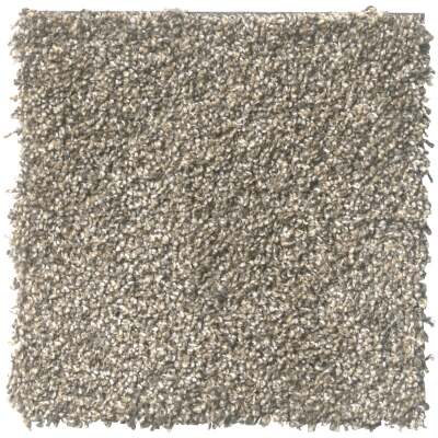 Floorigami 9 In. x 36 In. Feathered Tri-Tone Indoor Carpet Tile (12-Pack)