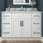 Continental Cabinets Andover Shaker 30 In. W x 34-1/2 In. H x 21 In. D White Vanity Base, 2 Door Image 2