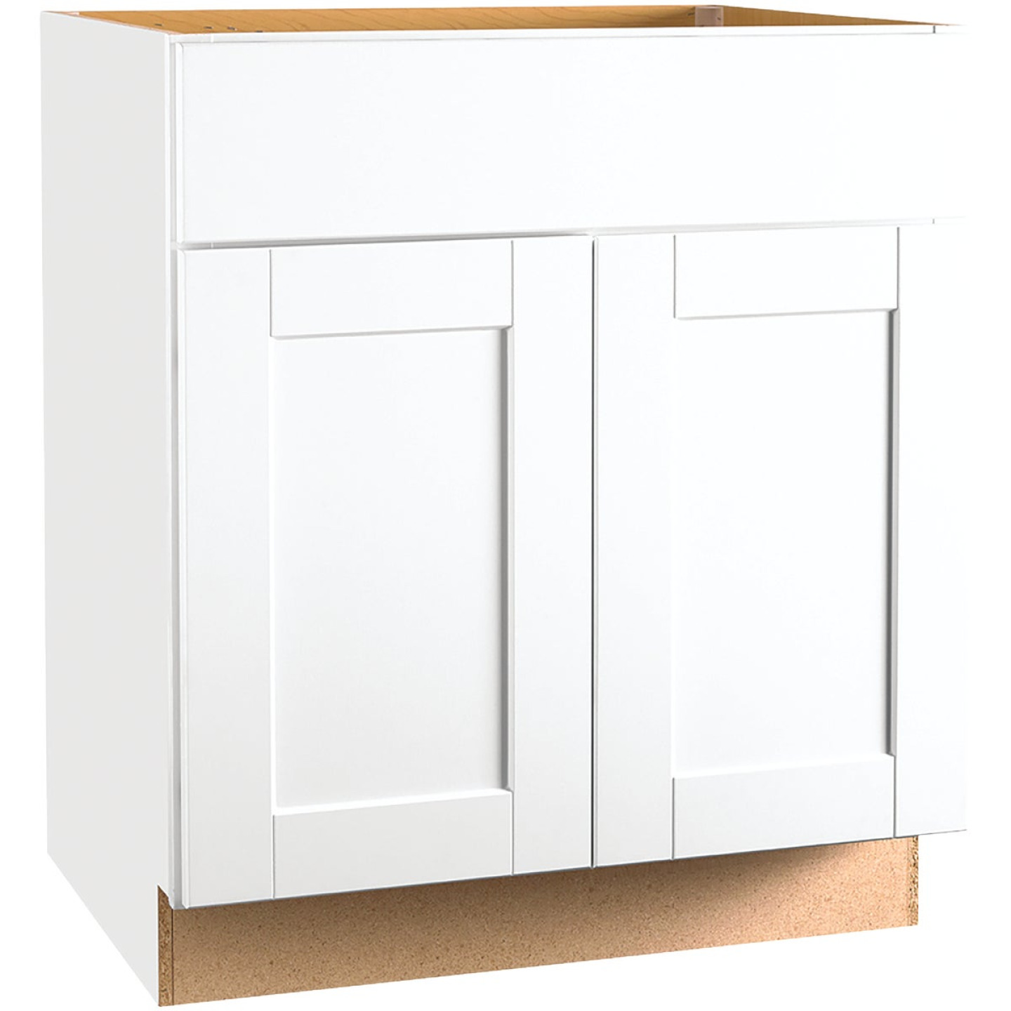 Continental Cabinets Andover Shaker 30 In. W x 34 In. H x 24 In. D White Thermofoil Base Kitchen Cabinet Image 1