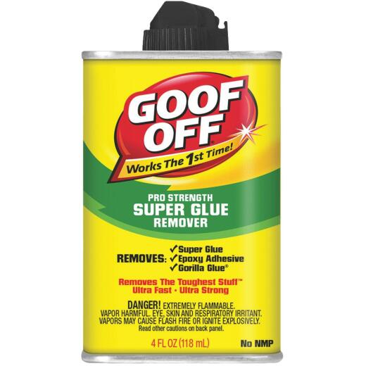 Goof Off 4 Oz. Pro Strength Super Glue Remover