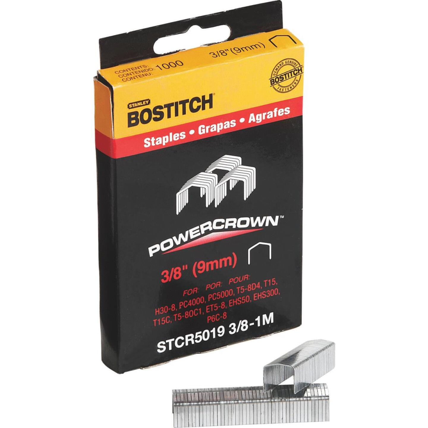 Bostitch Powercrown Hammer Tacker Staple, 3/8 In. (1000-Pack) Image 3