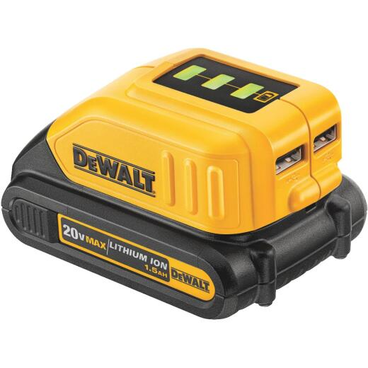 DeWalt 12 Volt/20 Volt MAX Lithium-Ion USB Power Source (Bare Tool)