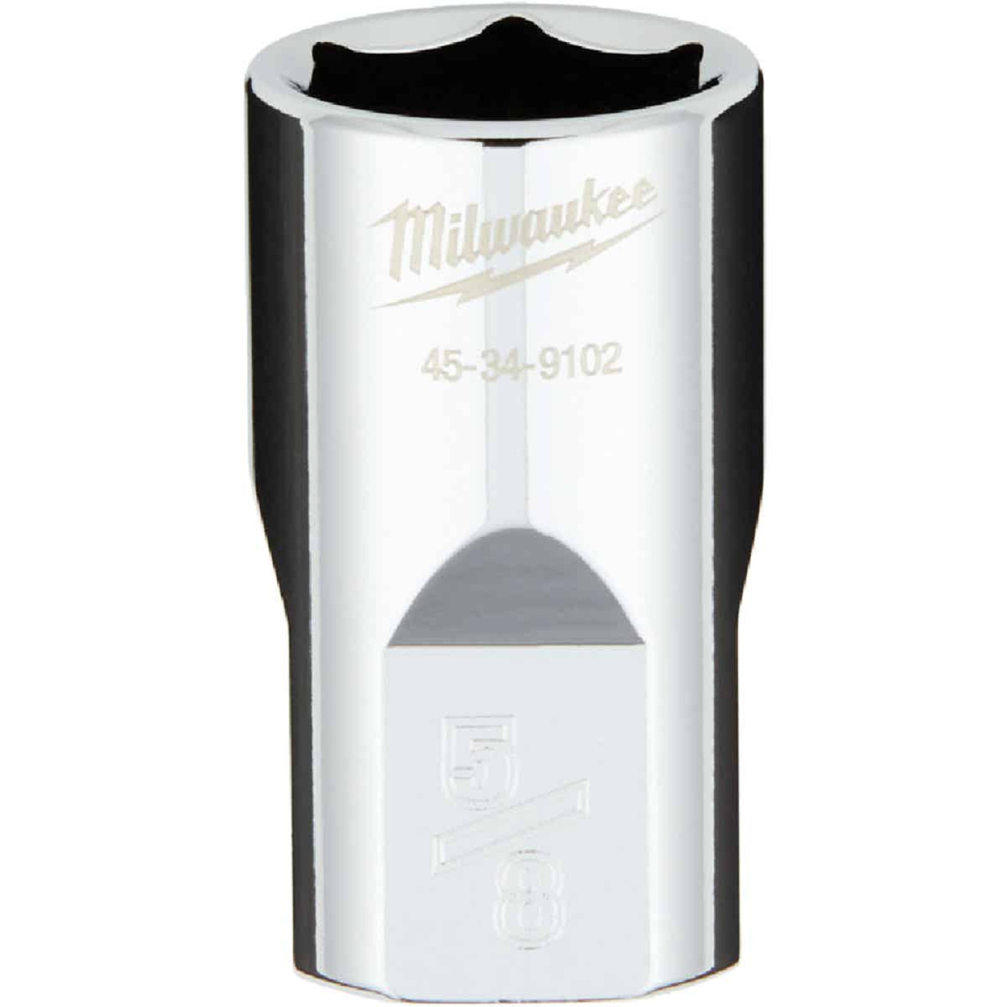 Milwaukee 1/2 In. Drive 5/8 In. 6-Point Shallow Standard Socket with FOUR FLAT Sides Image 1