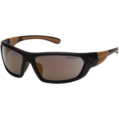 Carhartt Carbondale Black & Tan Frame Safety Glasses with Antique Mirror Lenses