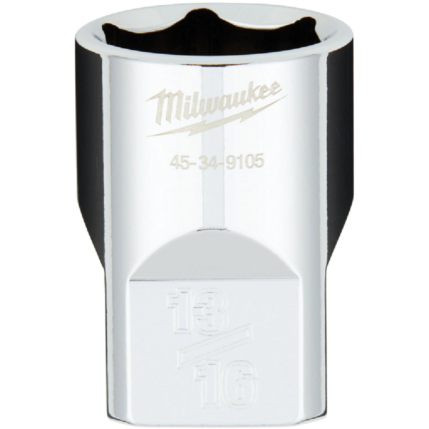 Milwaukee 1/2 In. Drive 13/16 In. 6-Point Shallow Standard Socket with FOUR FLAT Sides Image 1