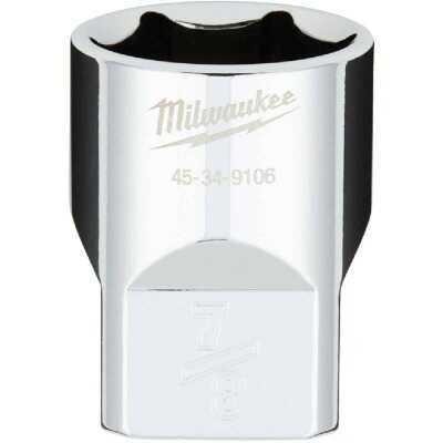 Milwaukee 1/2 In. Drive 7/8 In. 6-Point Shallow Standard Socket with FOUR FLAT Sides