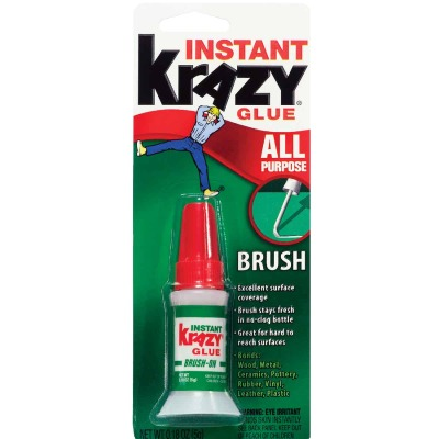 Krazy Glue 0.18 Oz. Liquid All-Purpose Super Glue with Brush