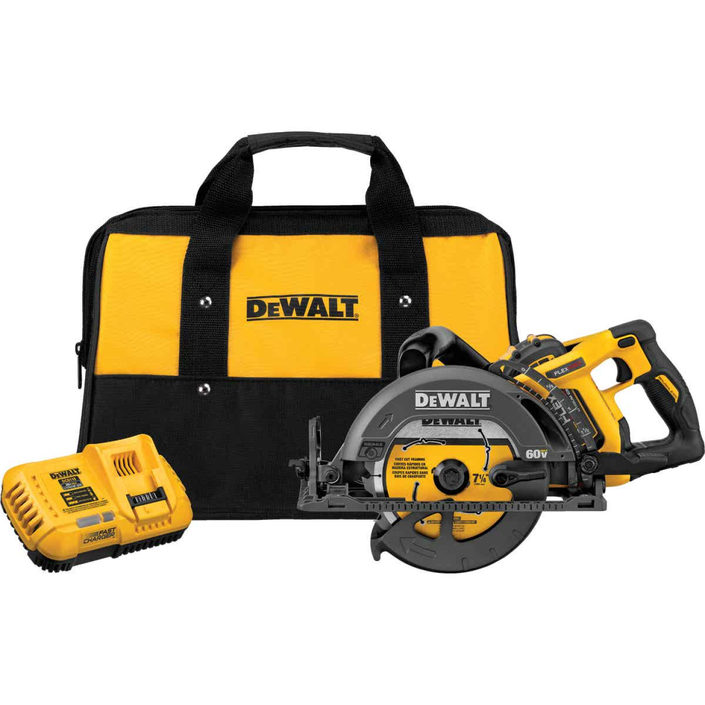 DeWalt Flexvolt 60V MAX Lithium-Ion 7-1/4 In. Cordless Worm Drive Saw Kit Image 1
