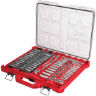 Milwaukee Std/Metric 1/4 In. & 3/8 In. Drive 6-Point Ratchet & Socket Set w/PACKOUT Organizer (106-Piece) Image 1