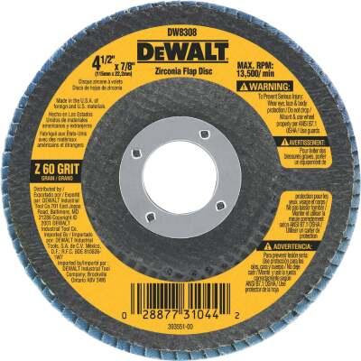 DeWalt 4-1/2 In. 60-Grit Type 29 High Performance Zirconia Angle Grinder Flap Disc