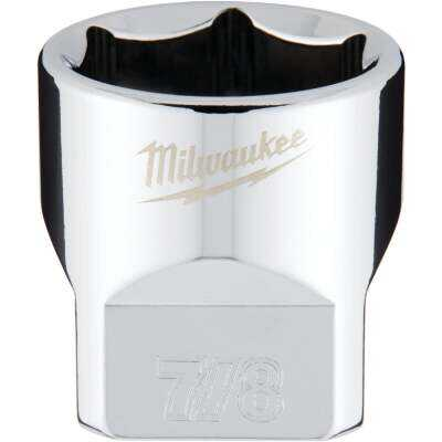 Milwaukee 3/8 In. Drive 7/8 In. 6-Point Shallow Standard Socket with FOUR FLAT Sides