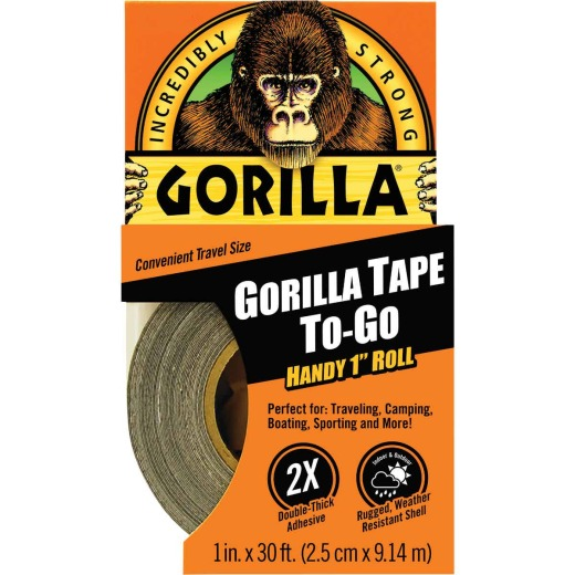 Gorilla 1 In. x 30 Ft. To-Go Heavy-Duty Duct Tape, Black