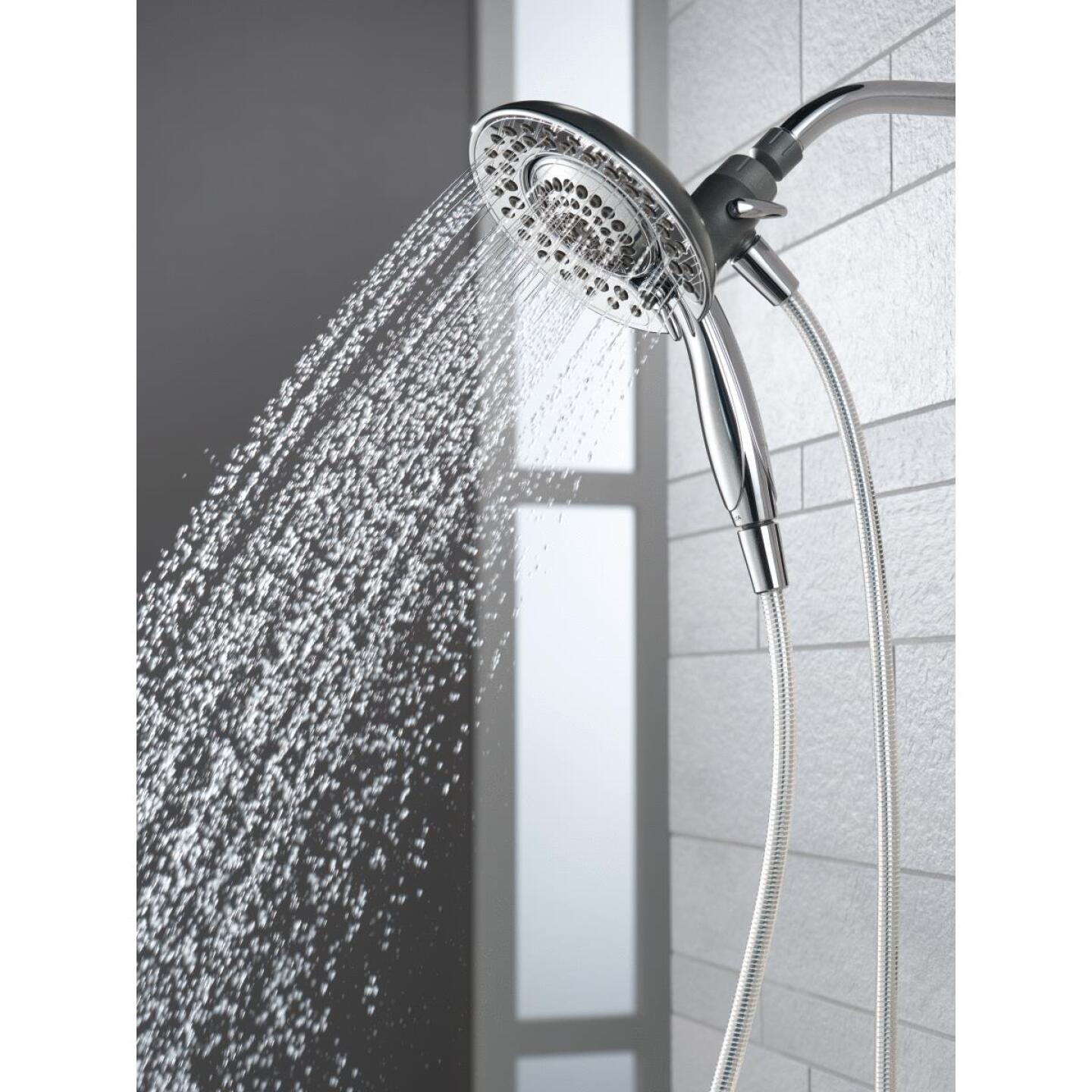 Delta In2ition 5-Spray 1.8 GPM Combo Handheld Shower & Showerhead, Chrome Image 3