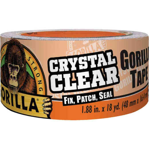 Gorilla 1.88 In. x 18 Yd. Crystal Clear Duct Tape, Clear