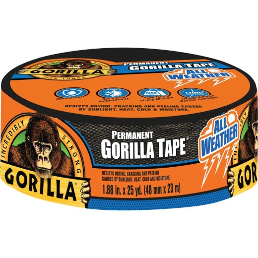 Gorilla 1.88 In. x 25 Yd. All Weather Repair Tape, Black