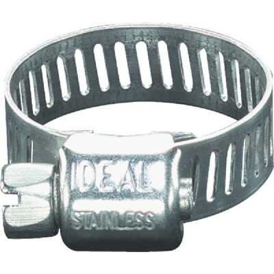 Ideal 5/16 In. - 5/8 In. Stainless Steel Micro-Gear Hose Clamp w/Zinc-Plated Carbon Steel Screw