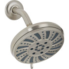 Home Impressions 6-Spray 1.8 GPM Fixed Showerhead, Brushed Nickel Image 1