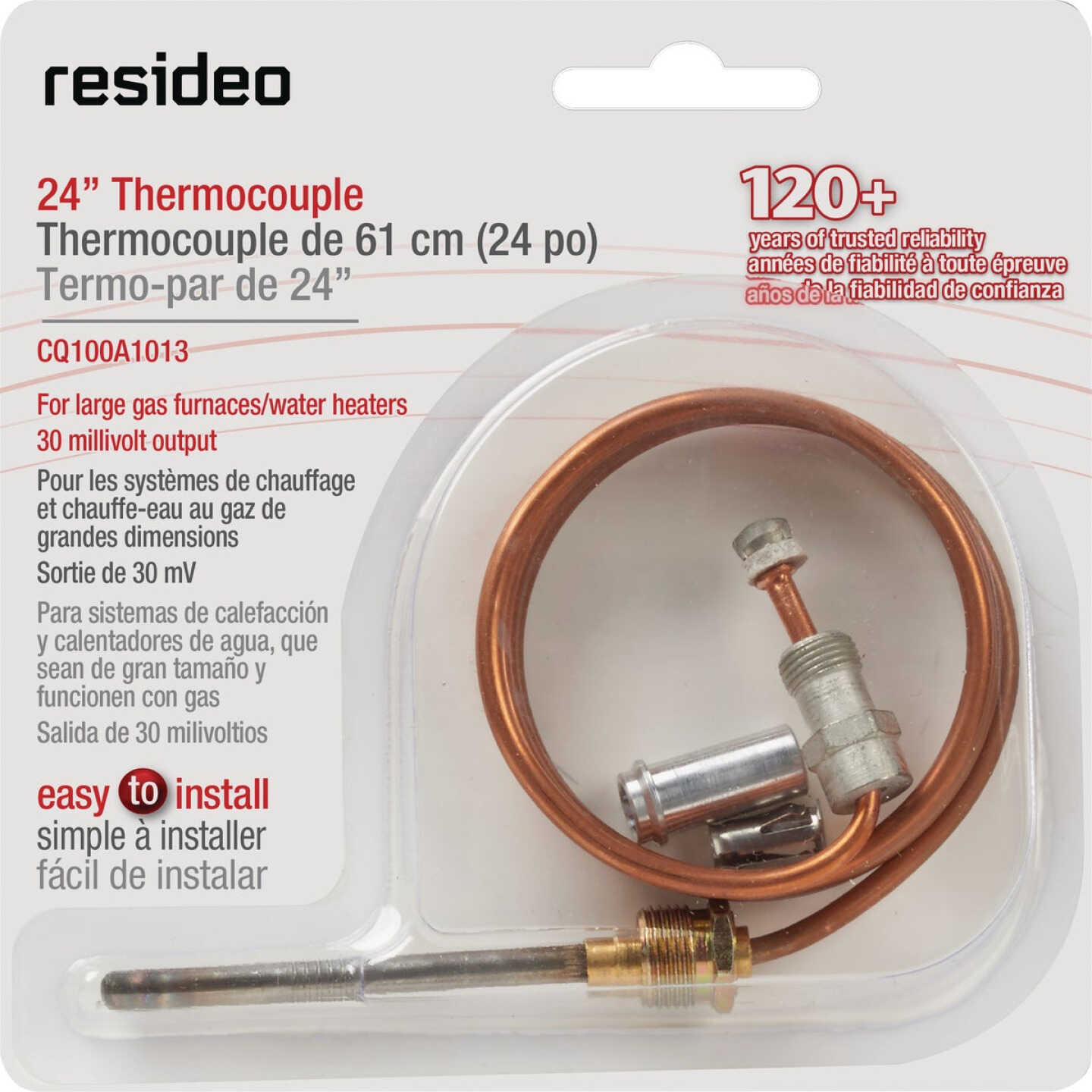 Resideo 24 In. 30mV Universal Thermocouple Image 1