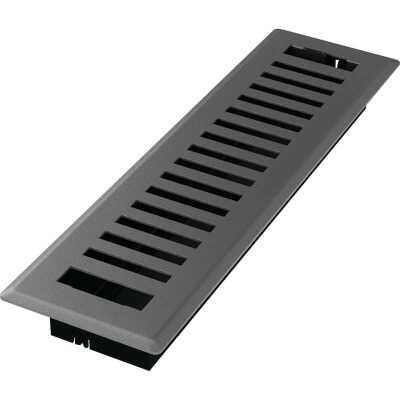 Imperial Montezuma 2-1/4 In. x 12 In. Gray Granite Steel Floor Register