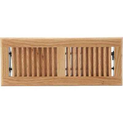 Home Impressions 4 In. x 12 In. Light Oak Floor Register