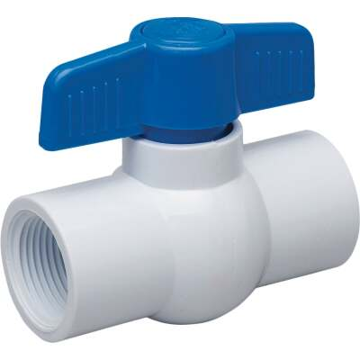 Proline 1 In. FIP x 1 In. FIP PVC Schedule 40 Quarter Turn Ball Valve, Non-NSF