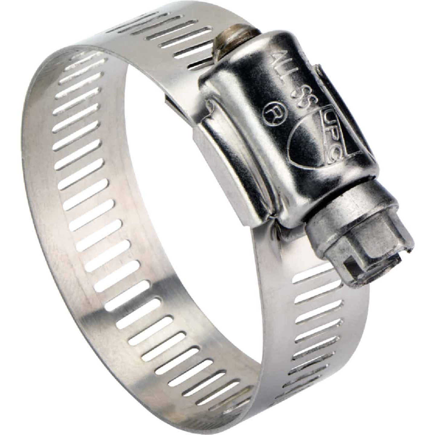 Ideal 3-1/2 In. - 5-1/2 In. All Stainless Steel Marine-Grade Hose Clamp Image 1