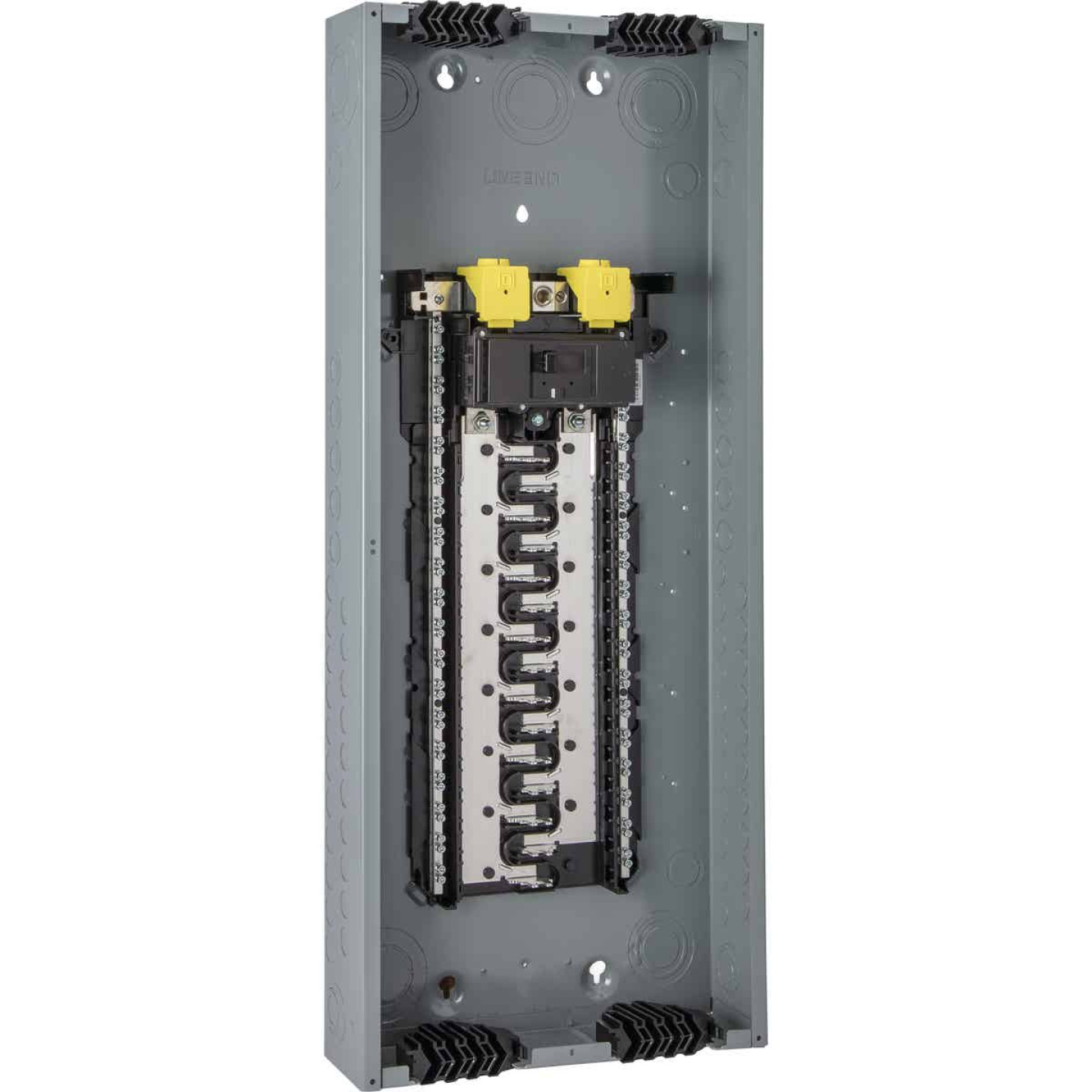 Square D Homeline Qwik-Grip 200A 60-Circuit 30-Space Indoor Main Breaker Plug-On Neutral Load Center Image 1