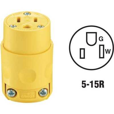 Leviton 15A 125V 3-Wire 2-Pole Residential Grade Cord Connector