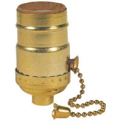 Westinghouse Pull Chain Medium Base Brass Lamp Socket