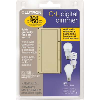 Lutron Maestro CL Ivory 120 VAC Wireless Dimmer