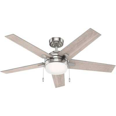 Hunter Bartlett 52 In. Brushed Nickel Ceiling Fan with Light Kit