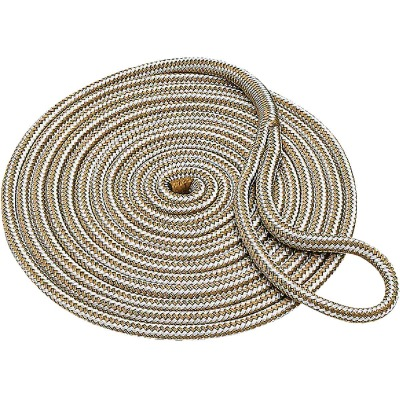 Seachoice 3/8 In. x 15 Ft. Gold Double Braid Nylon Dock Line