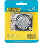 Seachoice 1-7/8 In. x 2-1/2 In. Chrome-Plated Brass Square Flush Hatch Ring Pull Image 1