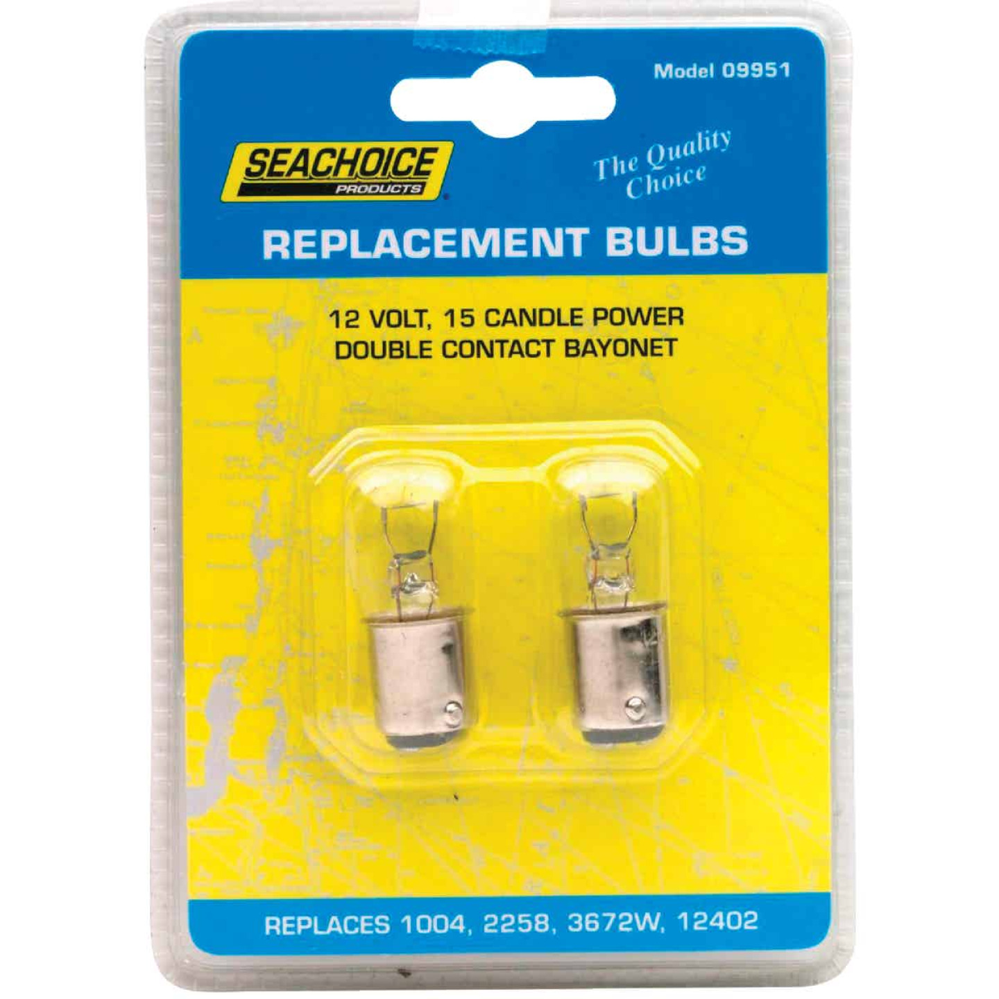 Seachoice Products 12W/12V Marine Replacement Bulb, GE 1004 (2-Pack) Image 1