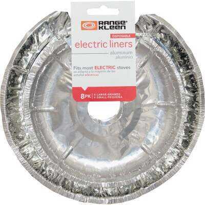 Range Kleen Round Aluminum Foil Electric Stove Bib Liners (8-Pack)
