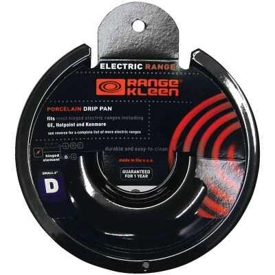 "Range Kleen Electric 6"" Style D Round Black Drip Pan"