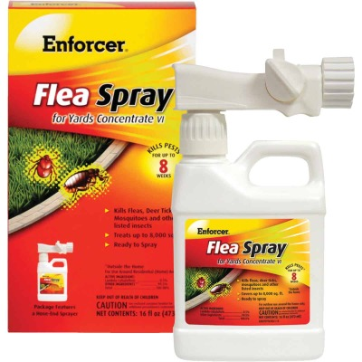 Enforcer 16 Oz. Ready To Spray Hose End Tick & Flea Killer Yard Spray